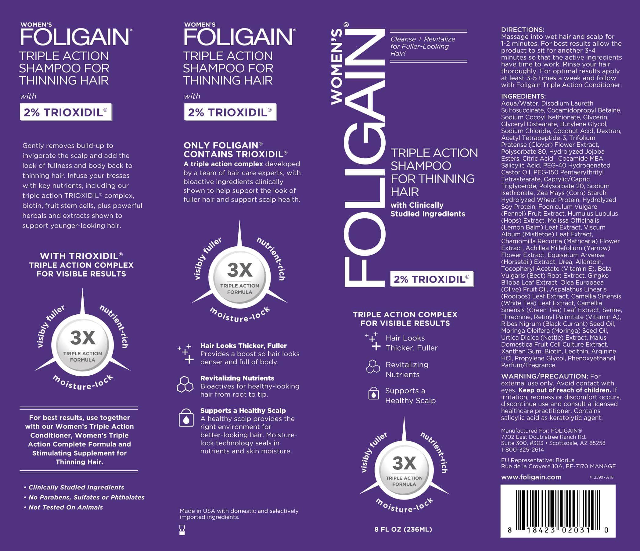Šampón proti padání vlasů pro ženy Foligain - obal